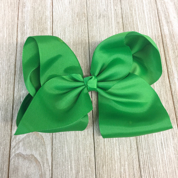 Solid Color Hair Bow in Kelly Green