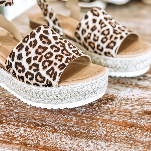 Power Strut Flatform Espadrille Sandals in Leopard