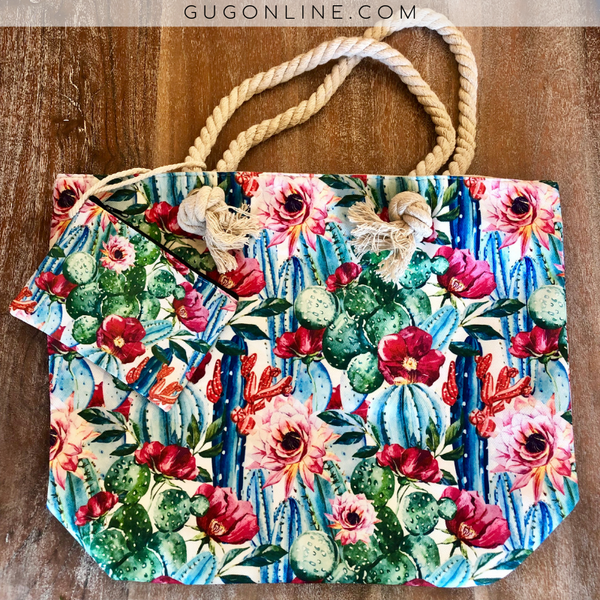 Cactus Beach/Tote Bag | Cute Trendy Summer Bags