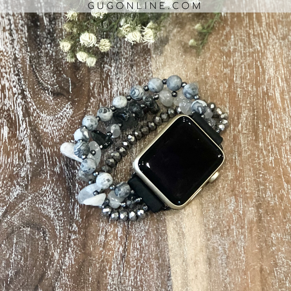 The Gabie | Three Strand Apple Watch Band in Black