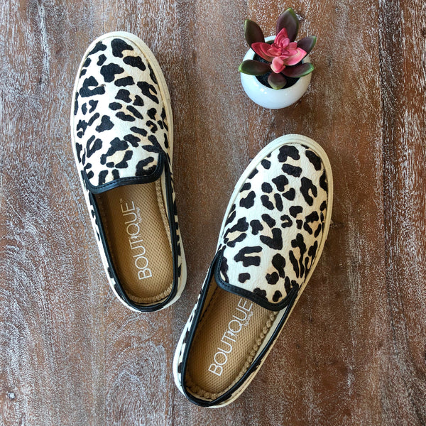 Corky's | Abbott Snow Leopard Slide On Sneakers