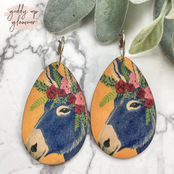 Keep It Gypsy | Leather Teardrop Wild and Free Donkey Earrings