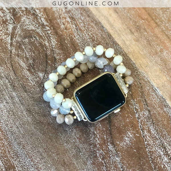 The Tati | Three Strand Apple Watch Band in Ivory