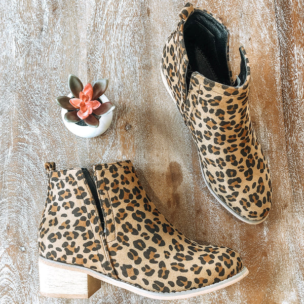 Step Out In Style Side Slit Bootie in Leopard