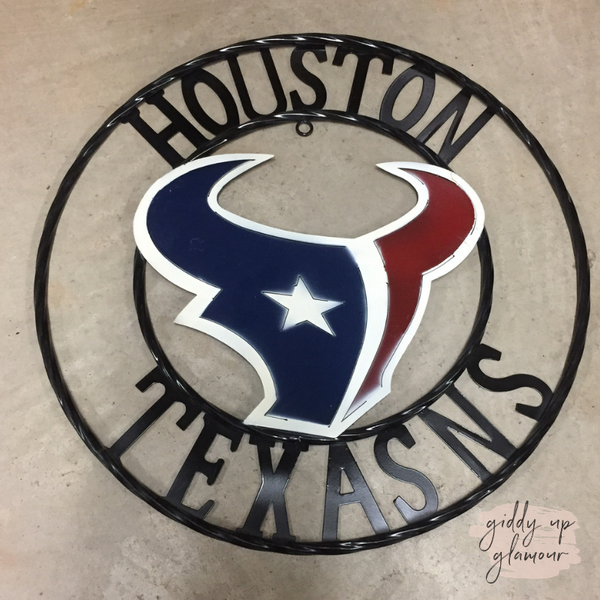 Misspelled | Houston Texans Round Team Sign
