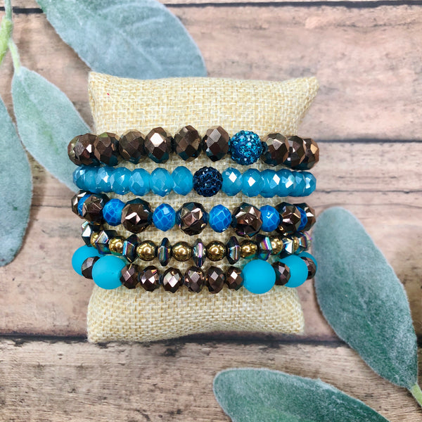 Erimish Grab Bag | Mallory's Brown and Turquoise Bracelet Set