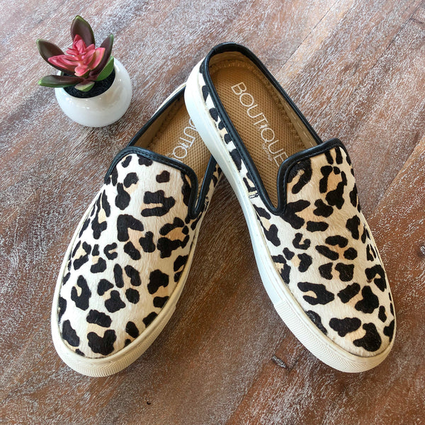 Corky's | Going Anywhere Snow Leopard Slide On Sneakers