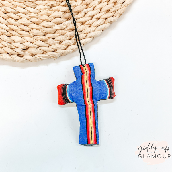 Blue Serape Print Cross Shaped Freshie in Naked Cowboy