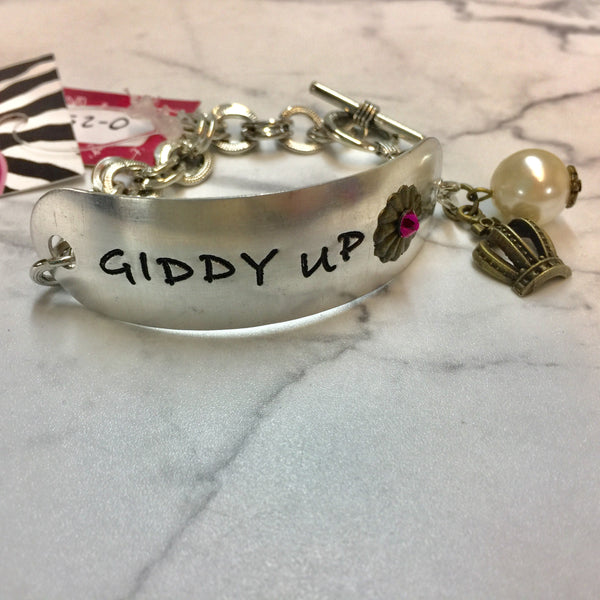 Silver Giddy Up Bracelet with Dangle Charms