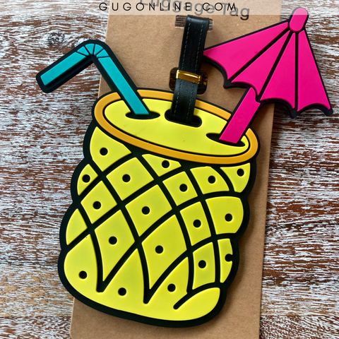 Pineapple Drink Luggage Tag