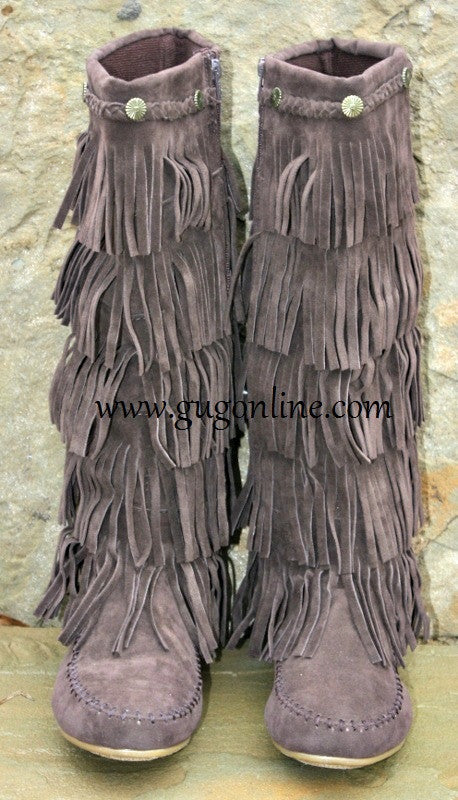 Fringe Riding Boots Womens