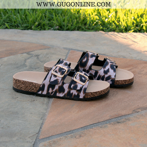 Concrete Jungle Leopard Print Sandals