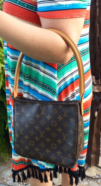 Authentic Used Louis Vuitton Looping MM Bag In Monogram Giddy Up - Make a free invoice pdf online louis vuitton online store