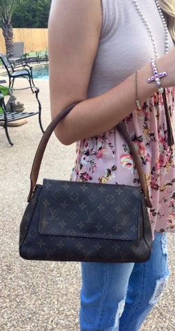 Authentic Used Louis Vuitton Looping PM Bag in Monogram