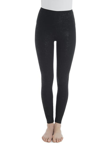 Lysse Tummy Control Premium Full Length Leggings in Black Shine