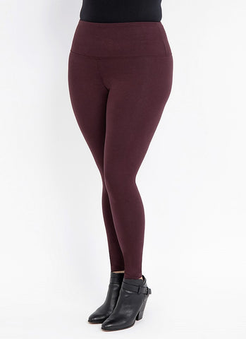 Lysse Premium Tummy Control Ankle Length Leggings BURGUNDY
