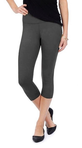 Lysse Premium Tummy Control Capri Length Leggings CHARCOAL