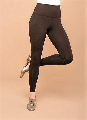Lysse Premium Tummy Control Ankle Length Leggings ESPRESSO Brown
