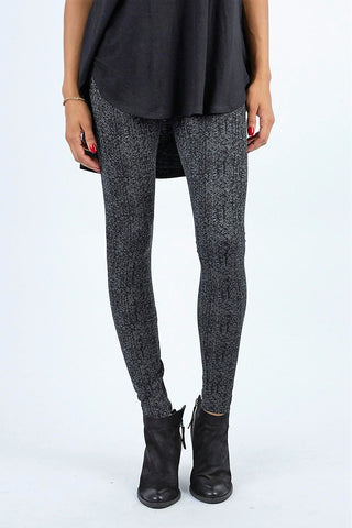 Lysse Premium Center Seam Ponte Ankle Length Leggings HERRINGBONE PATTERN