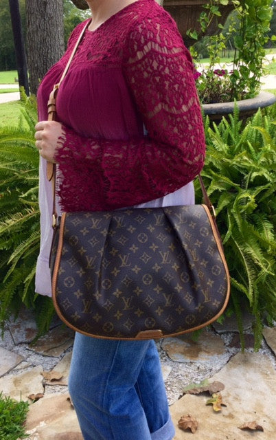 Authentic Used Louis Vuitton Menilmontant MM In Monogram JUST - Make a free invoice pdf online louis vuitton online store