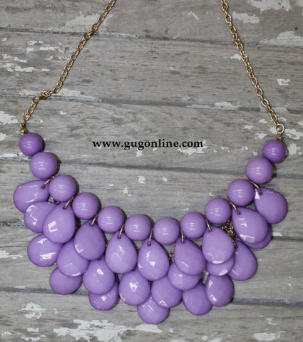 Lavender Mini Bib Necklace