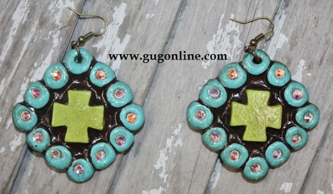 Lime Cruz Colorida Earrings