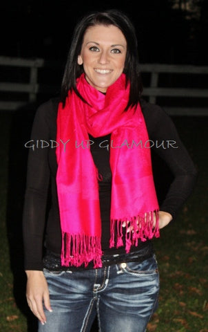 Solid Hot Pink Scarf