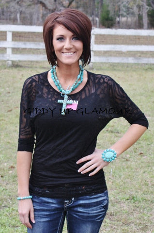 Black Animal Print Simple Tunic