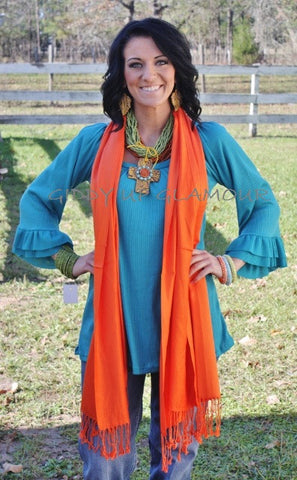 Solid Orange Scarf