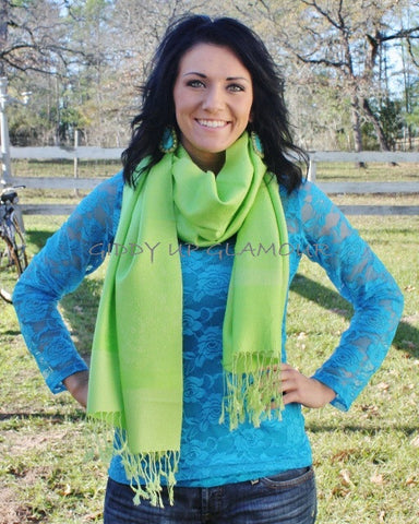 Solid Lime Scarf