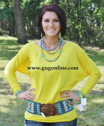A Spot To Snuggle Yellow Slouchy Top