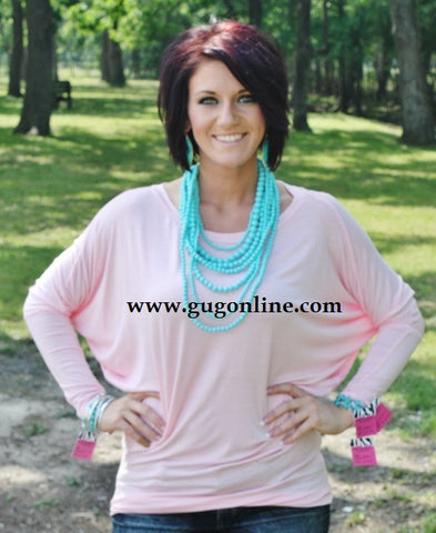 A Spot To Snuggle Light Pink Slouchy Top