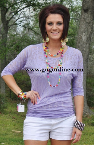 Lavender Animal Print Simple Tunic
