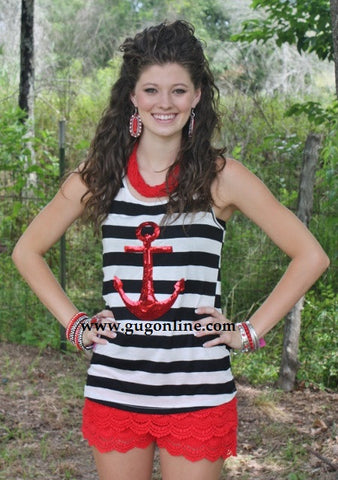 Anchors Away Striped Tank