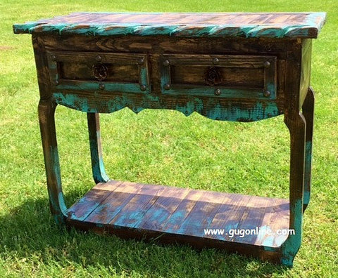 Handmade Rustic Ombre Sofa Table