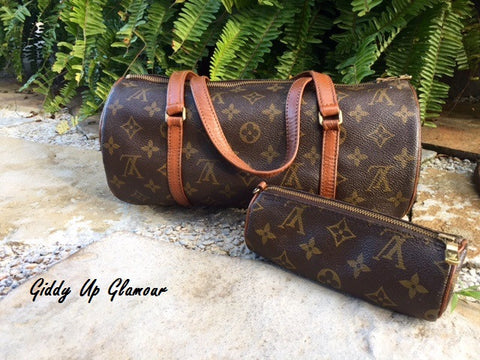 Authentic Used Louis Vuitton Papillion in Monogram with the Sidekick