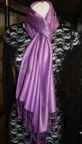 Metallic Light Purple Scarf