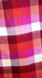Hot Pink and Yellow Plaid Cashmere Scarf