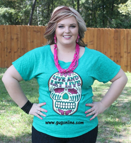 Gypsy Soule Live and Let Live Sugar Skull Top