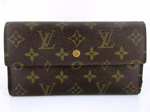 Authentic Used Louis Vuitton Portefeiulle International Wallet in Monogram