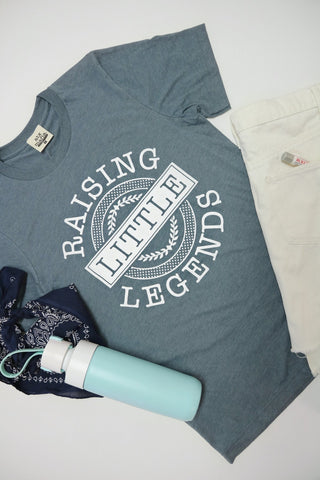 Raising Little Legends Short Sleeve Tee Shirt in Grey