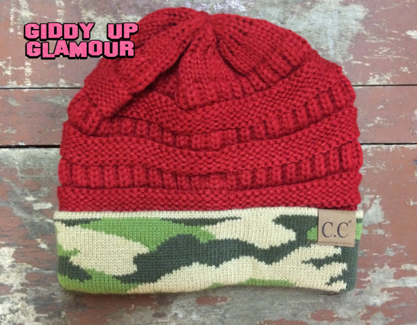 865544c931bbf Red Camo CC Beanie – Giddy Up Glamour Boutique