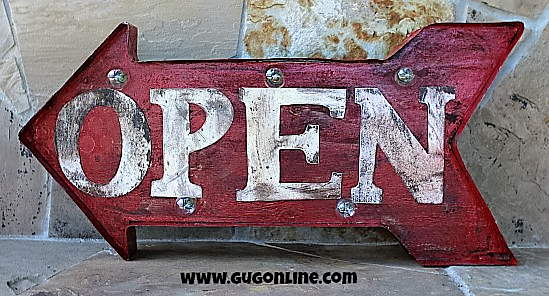 Arrow Signs | Handmade Arrow Signs | Arrow Rustic Open Signage