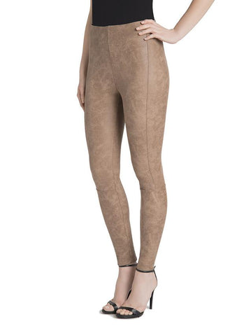 Lysse Premium Buffed Suede Leggings Saddle Tan