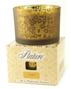 Tyler Candle Stature Collection Leopard 16 oz Candle - Fleur de Lis