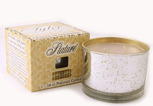 Tyler Candle Stature Collection Platinum 16 oz Candle - Fleur de Lis