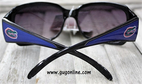Officially Licensed Collegiate Black Sunglasses with Crystals- University of Florida Gators