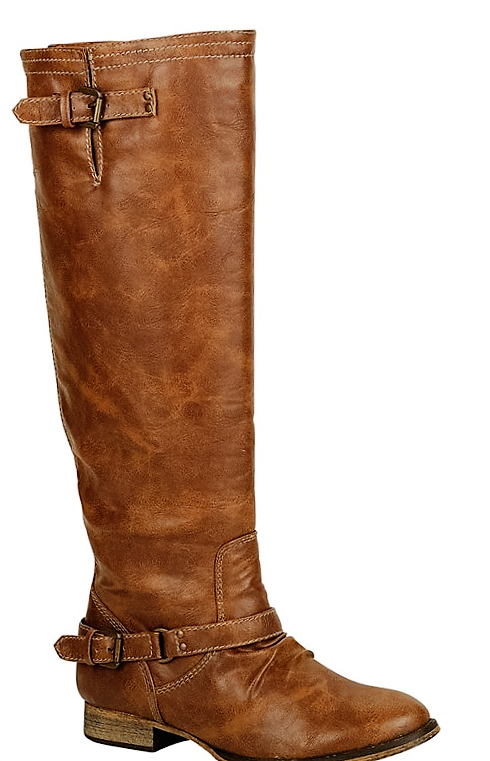 The Outlaw Riding Boots in Tan - size 5.5 only