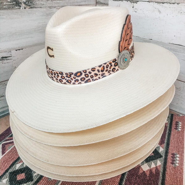 Charlie 1 Horse | Heatseeker Straw Hat with Leopard Band