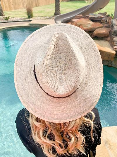 Shine On Me Wide Brim Palm Leaf Hat